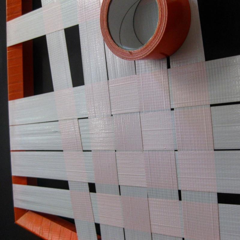 Orange Struktur-Abstraktes-Klebeband-Kunst-Nahaufnahme 02