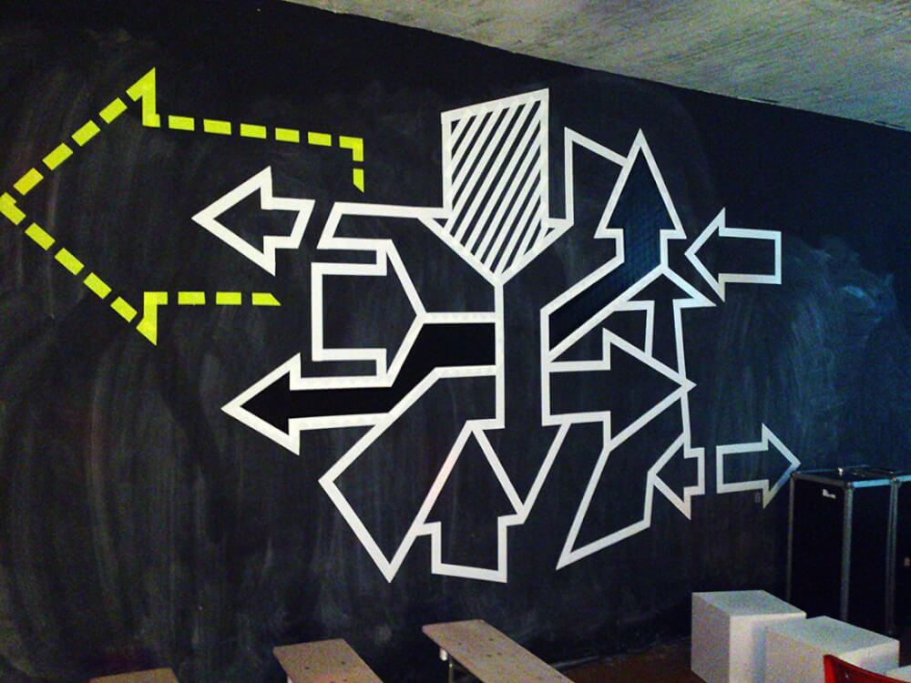 Arrows- abstract duct tape graffiti- 02