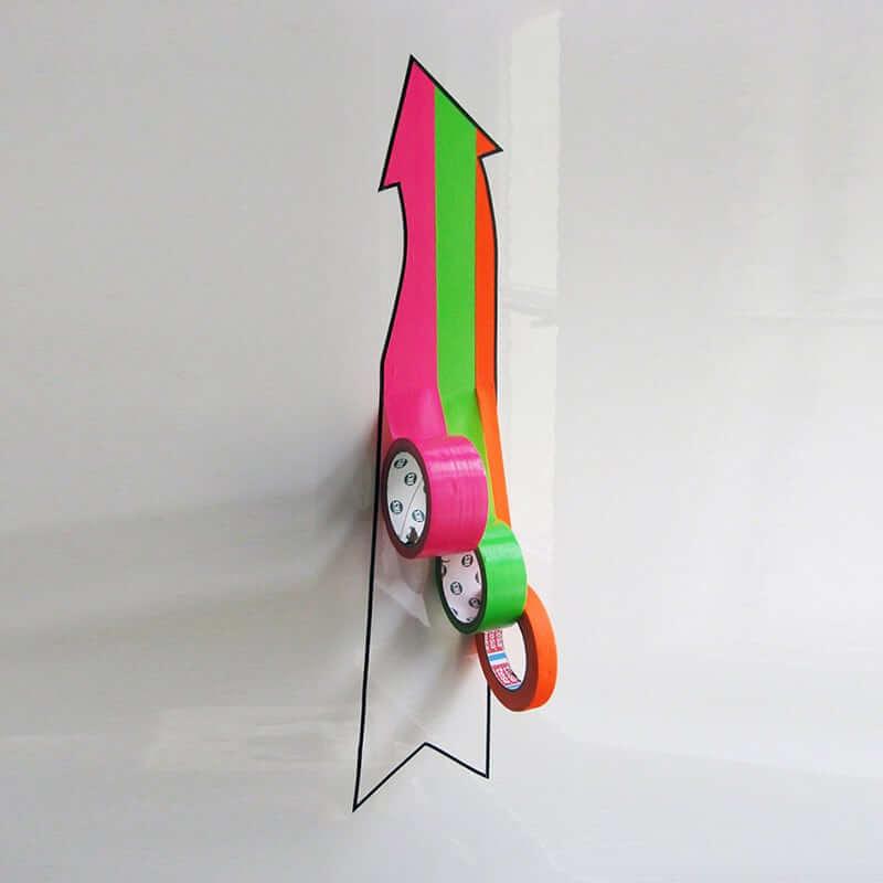 My Way - 3d tape graffiti-arrow-Ostap- 2012