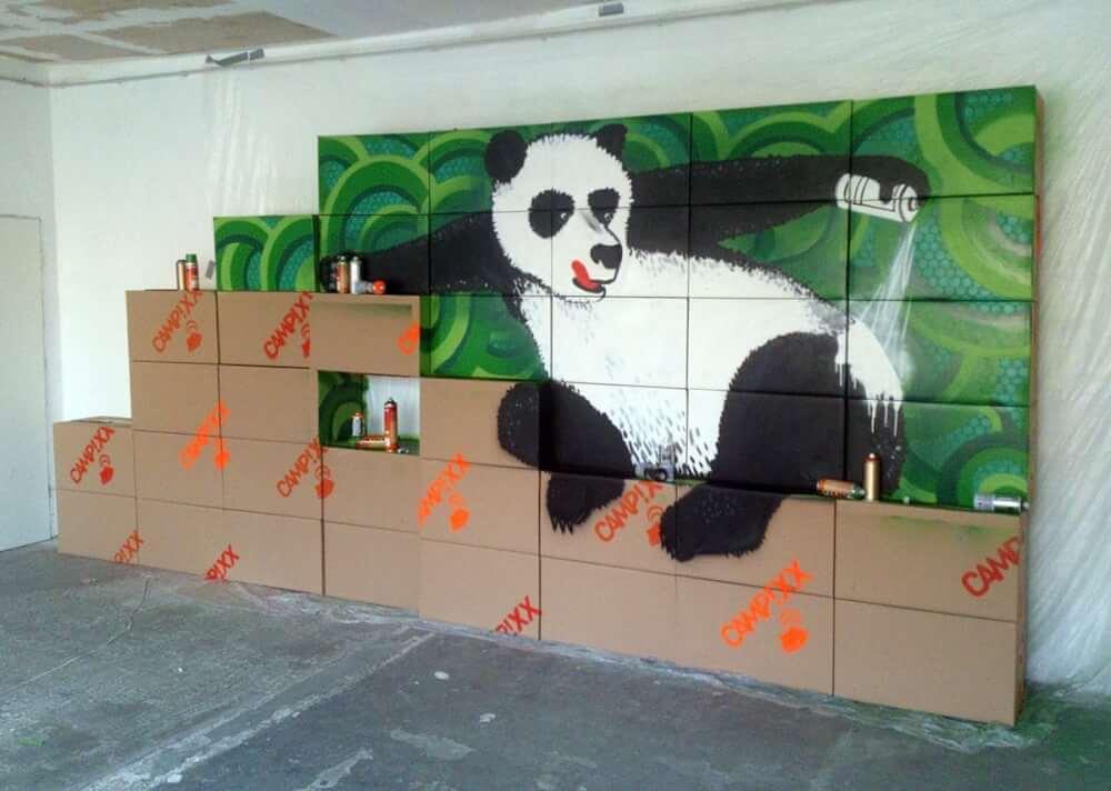 Google Panda Update-Commissioned Indoor Graffiti- CAMPIXX Congress 2013