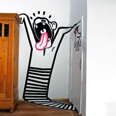 Scream-3d tape graffiti by ostap-2012-featured image