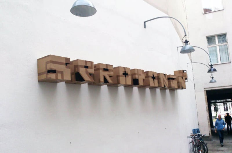3d Street Art by Ostap- Square graffiti letters-