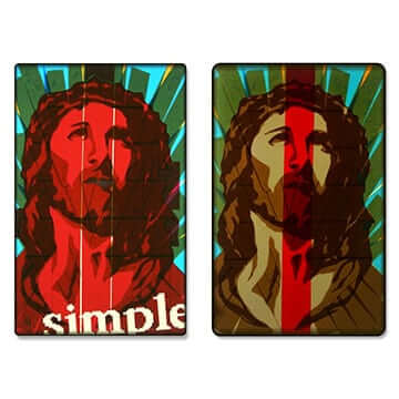 Jesus-portrait-icon-packing-tape-diptych-featured-image