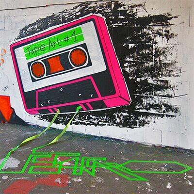 Tape Cassette-Mixed media graffiti- Ostap-street-art-festival-Teufelsberg-2012- thumbnail