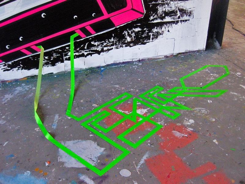 Tape Cassette-mixed media graffiti- Ostap-2012-close-up 2