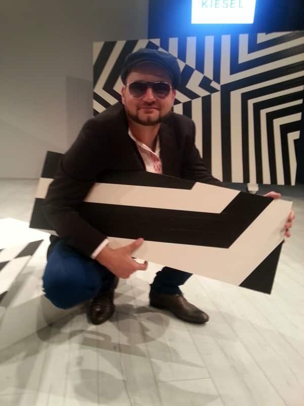 Tape art stage design on Mercedes Fashion Week Berlin 2013