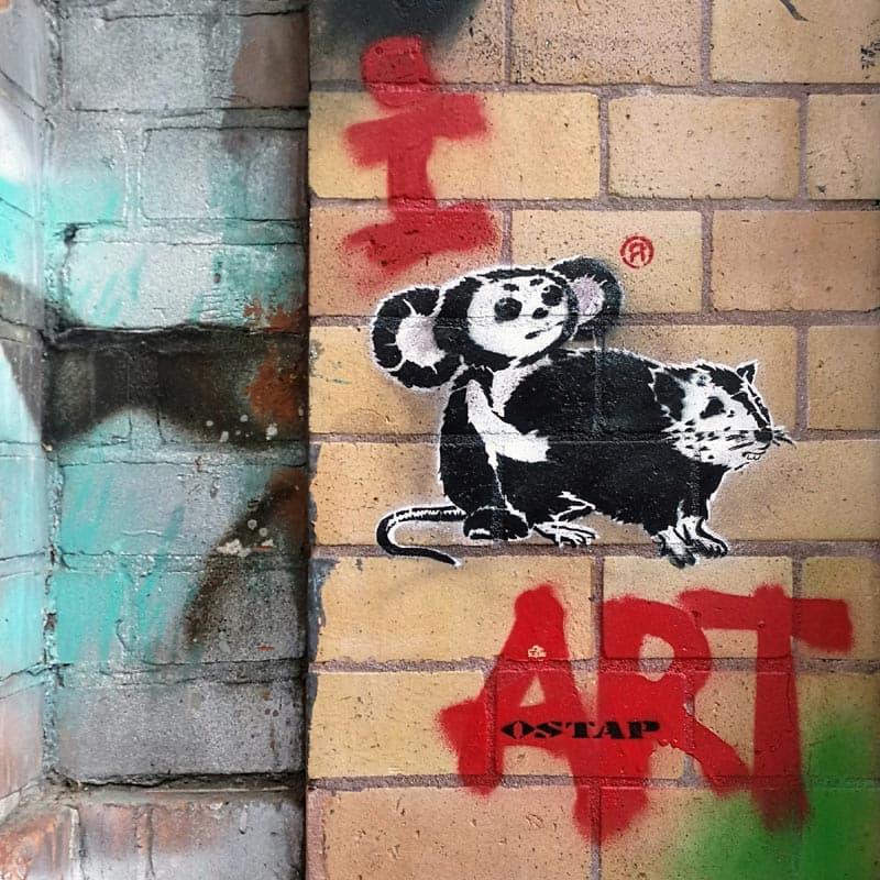 """I love art""- Stencil Graffiti by Ostap2018"