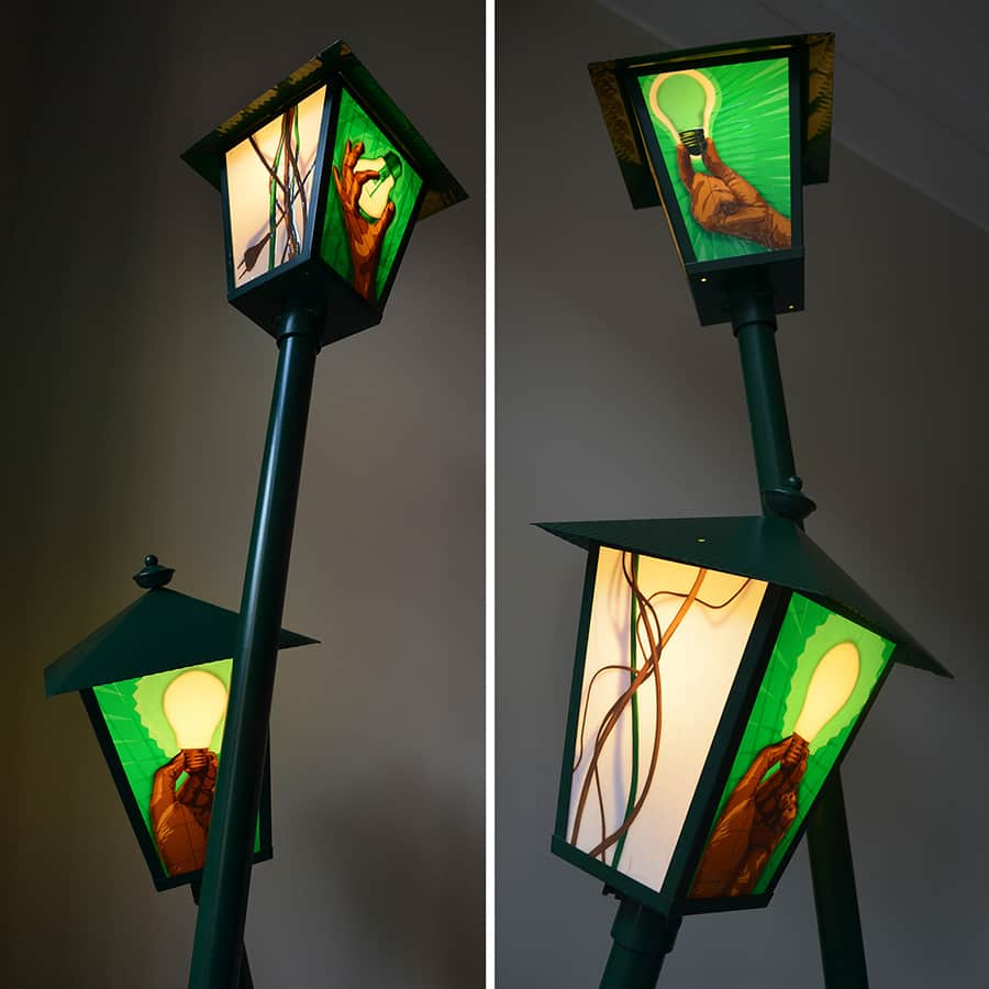 turn the light on-paketklebeband-installation-lampendesign-ostapartist-2013- nahaufnahmen 2