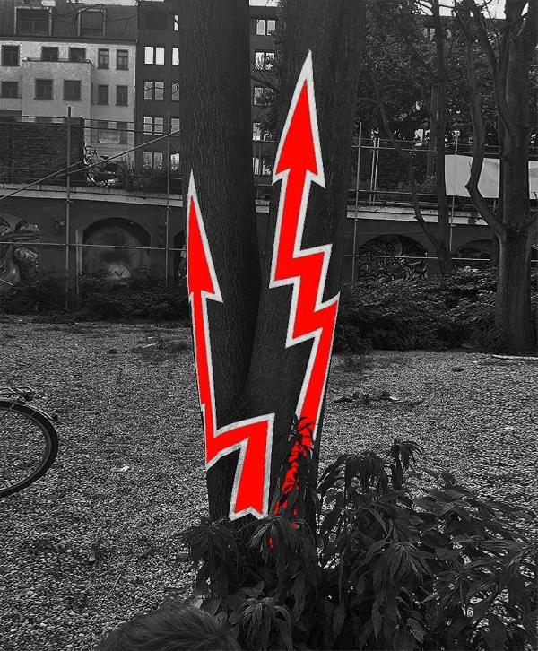 Neon power- duct tape street art- Berlin Graphic Days 2013