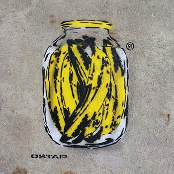 Banana can- Spree Can- stencil street art- featured image