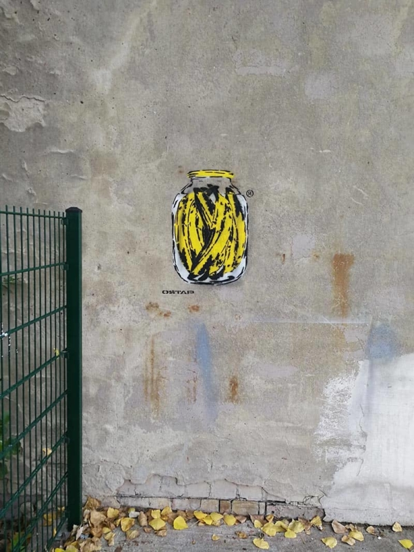 Stencil spray art- Banana Can- Ostap 2019
