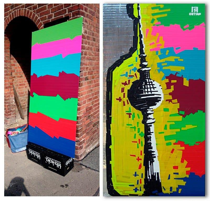 tape art-Absolut Vodka-Colors-Festival-Ostap-2015