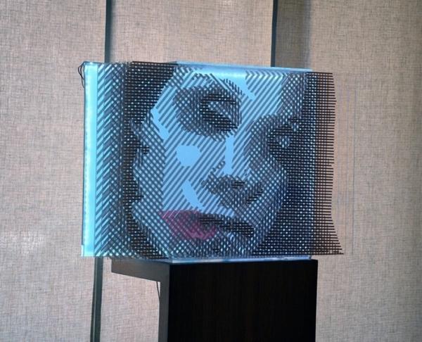 Faqlove Reloaded- 3D Kunst aus Paketklebeband- Seitenansicht 02