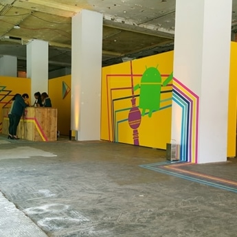 Image of tape art for Google Play Event