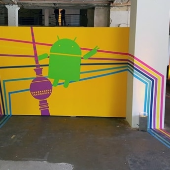 Tape route Guidelines for Google Event in Berlin