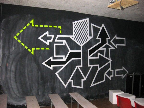 Arrows- abstract duct tape graffiti- Ostap 2013