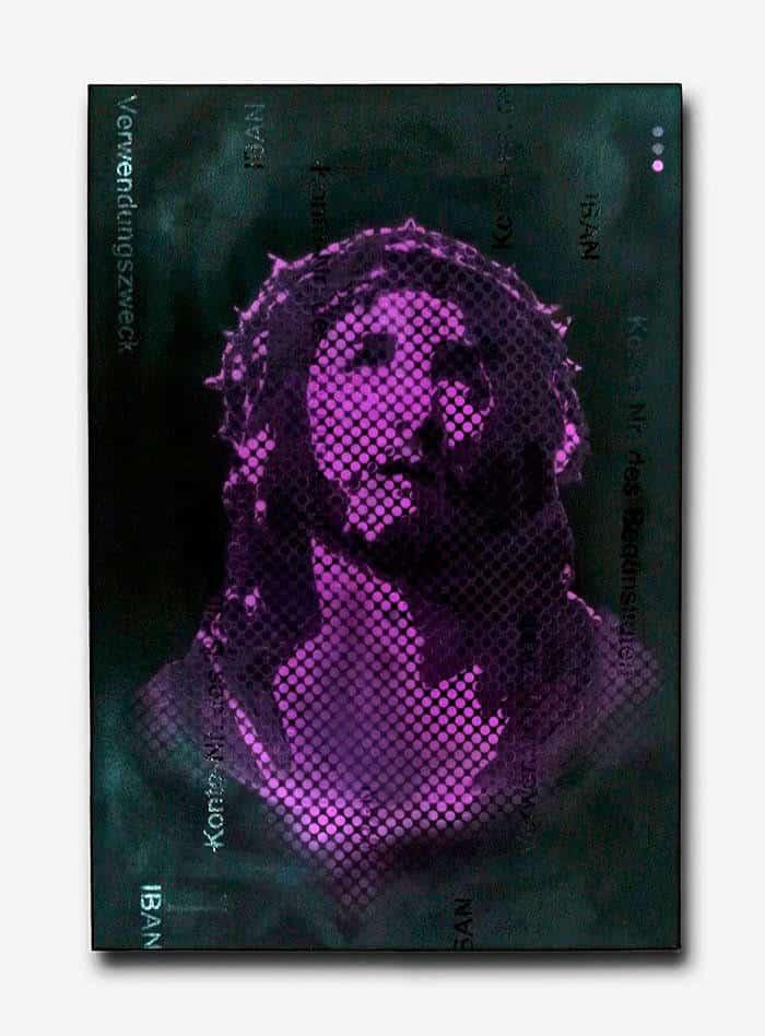 "Image of ""Indulgence""- Jesus graffiti spray pop art by Ostap, 2013."