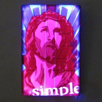 Packing tape art-Jesus Portrait- Pop art by Ostap