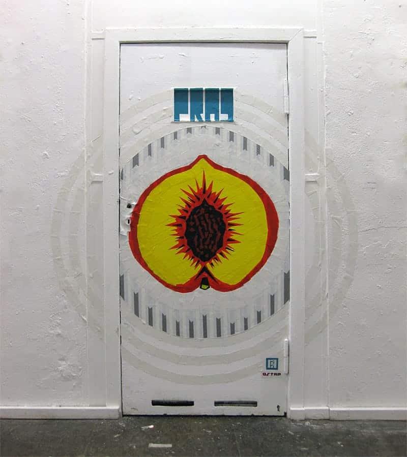The Door-Peach- Duct Tape graffiti at Neurotitan Gallery-Berlin 2015