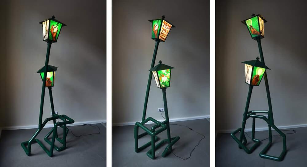 turnthelighton-packing tape-installation-lantern-design-ostap-2013
