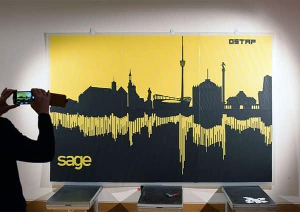 Live Tape art tour-Stuttgart Skyline