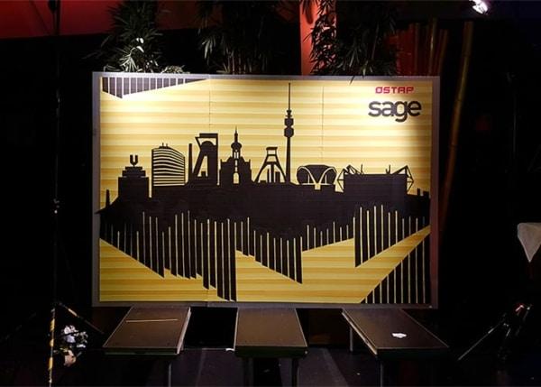 Tape art tour 2016- Dortmund skyline