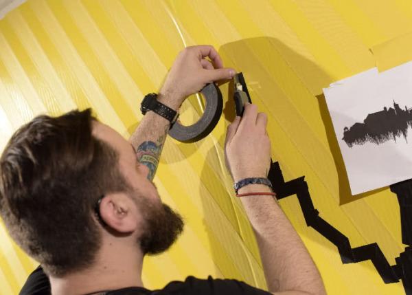 Tape Artist- Live painting show- Dortmund 2016
