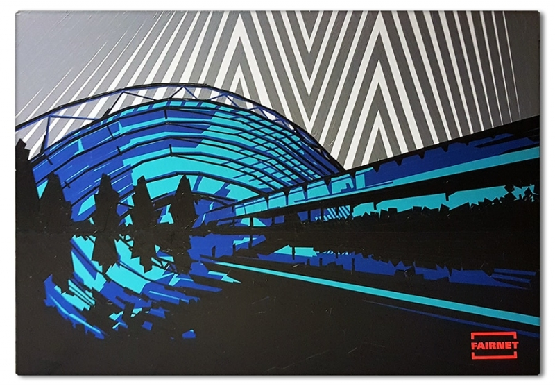 Finished Commissioned artwork- live tape art show at Leipzig Fair event- 2016