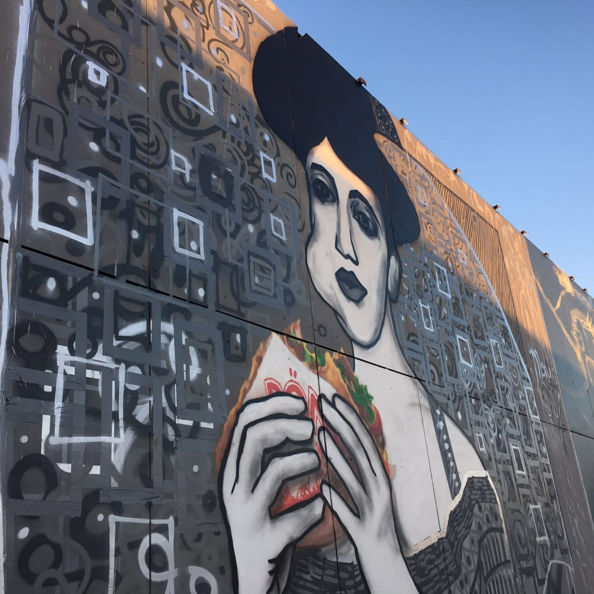 Lady in cement- Street art by Selfmadecrew and Ostap-NSA listening station-Berlin-Teufelsberg 2016-Close-up 3
