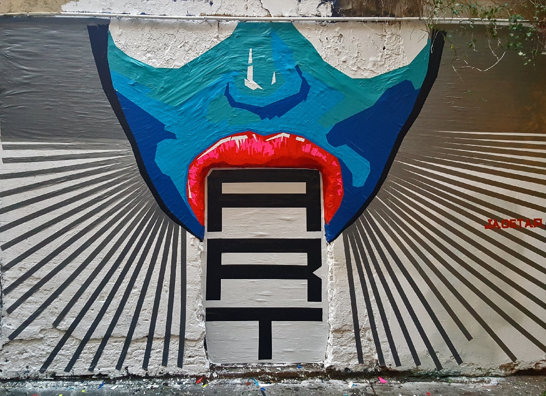 Tape street art by Selfmadecrew for Tape Art Convention 2016- Hoover