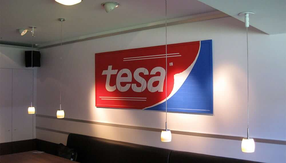 Image 2- Commissioned tape art for adhesive tape manufacturer Tesa