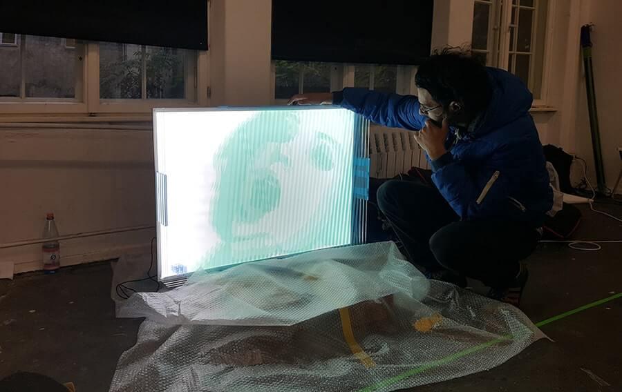Faqlove reloaded- 3D Paketklebeband-Kunstwerk- Tape Art Convention 2016-Berlin