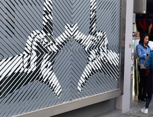 Optical Street Art with Duct Tape