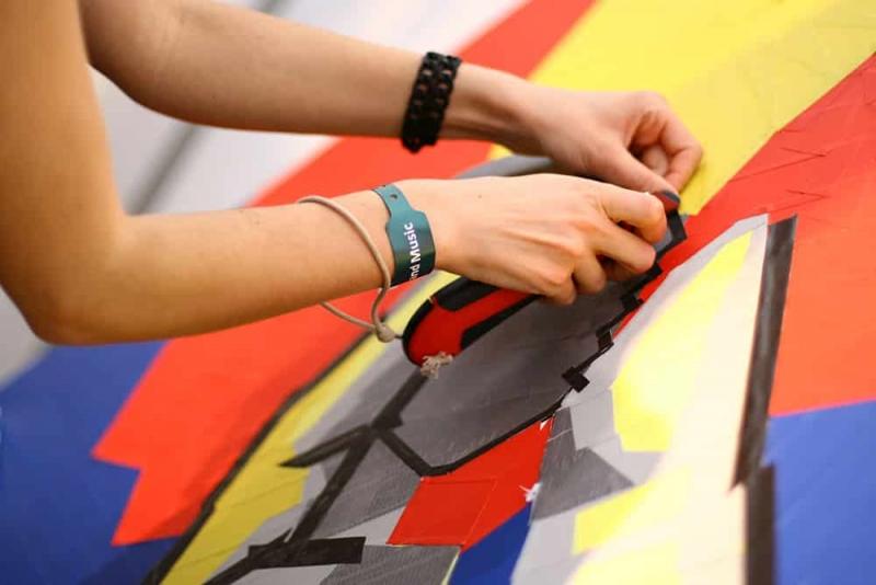 Making-of Glühbirne- Tape-Art-Kunstwerk-Live