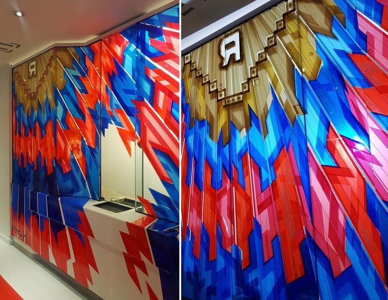 Graffititum-Klebeband-Kunst von Ostap- The Haus Ausstellung
