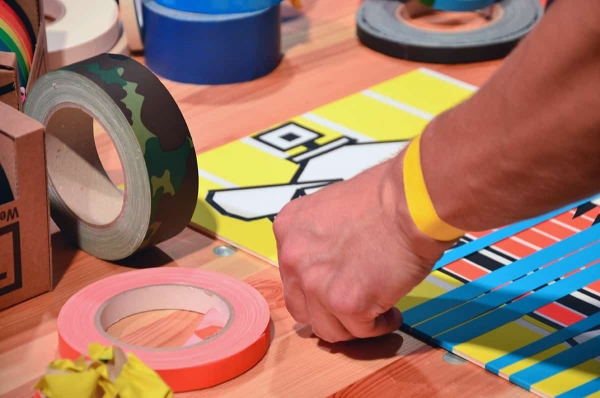 At work- tape art workshopby selfmadecrew