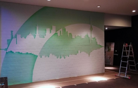 Work in Progress- Graffiti artwork- the Foyer-Huzur Bülowstraße project