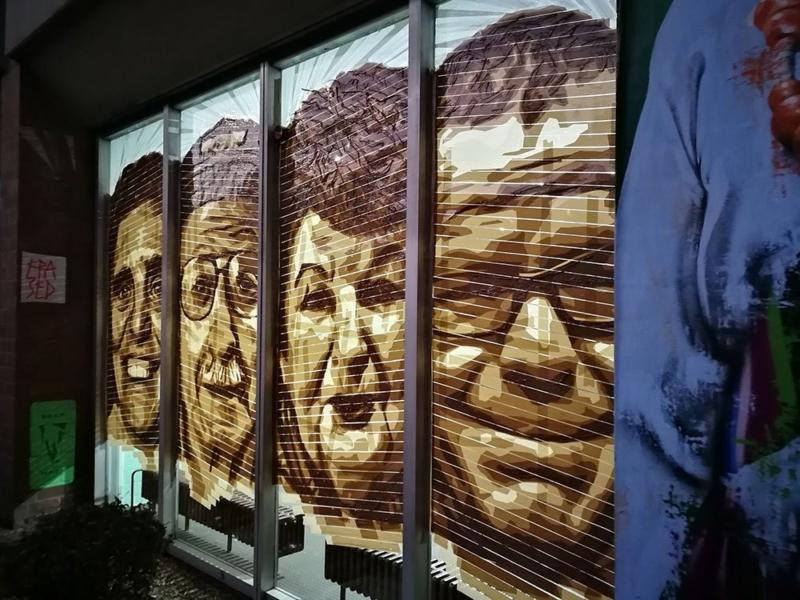 Vier Tape Porträts-Huzur Bülowstrasse Einwohner-Street Art Selfmadecrew