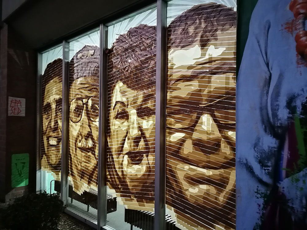 Amazing Street Art by Selfmadecrew- Brown Tape Portraits- Huzur Bülowstrasse Residents