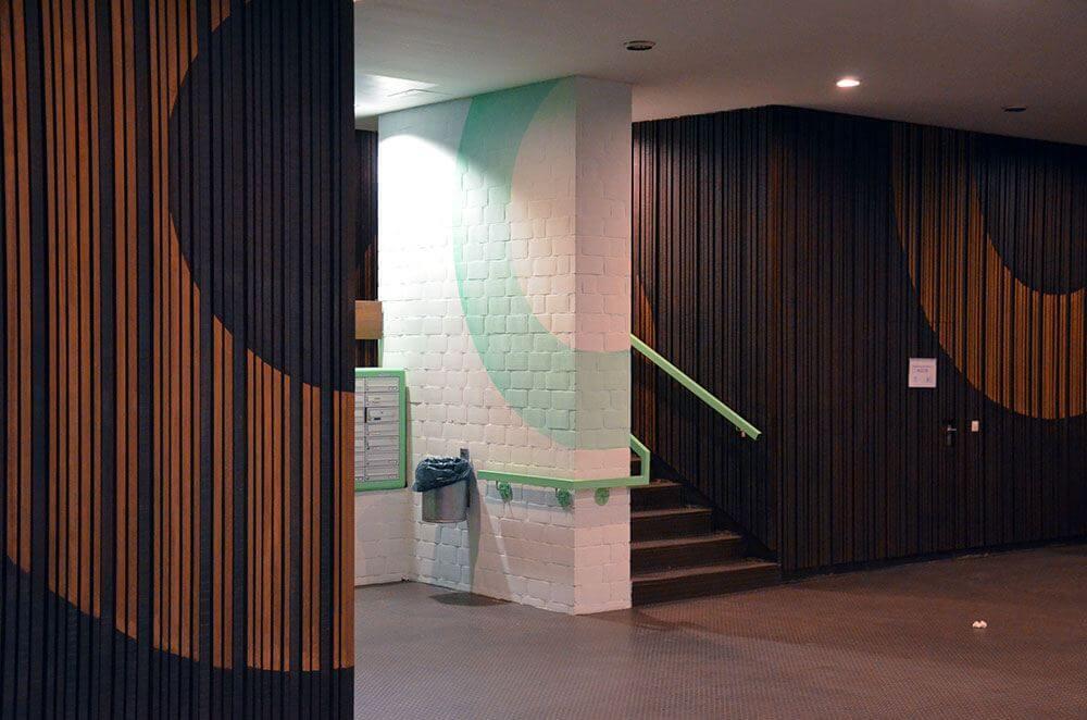 Abstract interior design- Felix Rodewald and selfmadecrew- Huzur Street Art Bulowstr