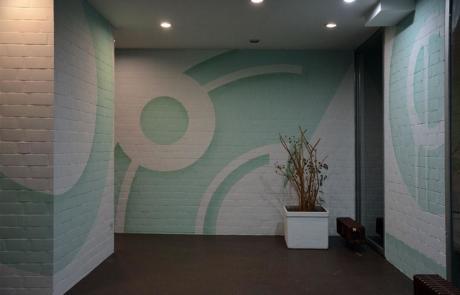 Abstract wall design with spray paint- Huzur Street Art Bulowstreet Berlin