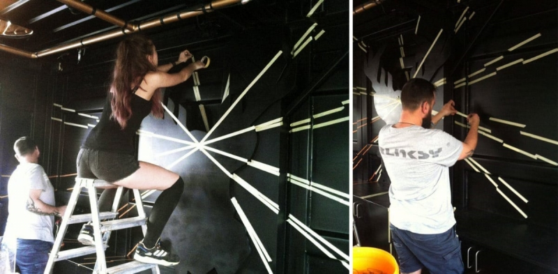 Marking the Layout- Selfmadecrew at work- Jägermeister Project
