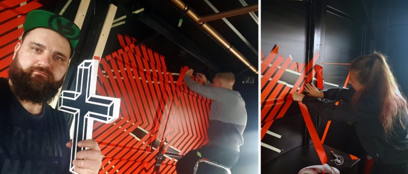 Fun when taping-Selfmade Crew sticks for Jägermeister