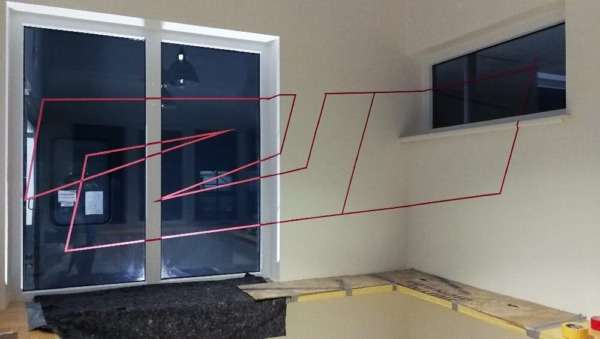 Flying Steps Academy Project- interior design with adhesive tape
