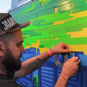 Tape Art Live Show Commission Stadt&Land- Featured image