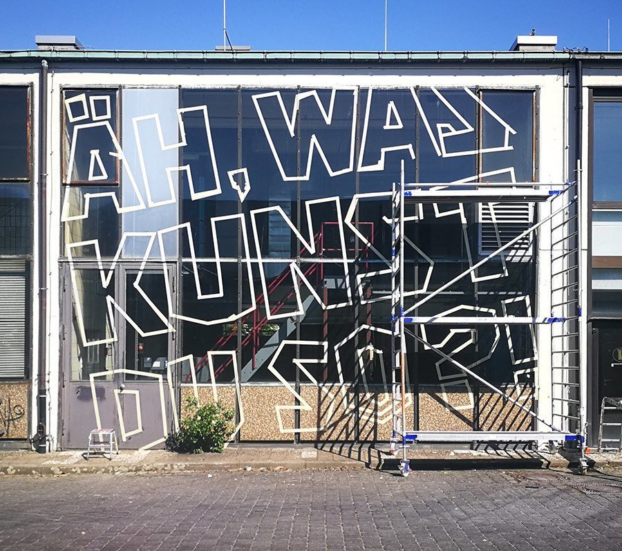 Starting white mural- Berlin mural fest