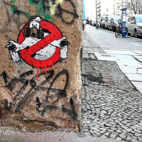 Graffiti Buster- Stencil Street-Art- Prenzlauer Berg