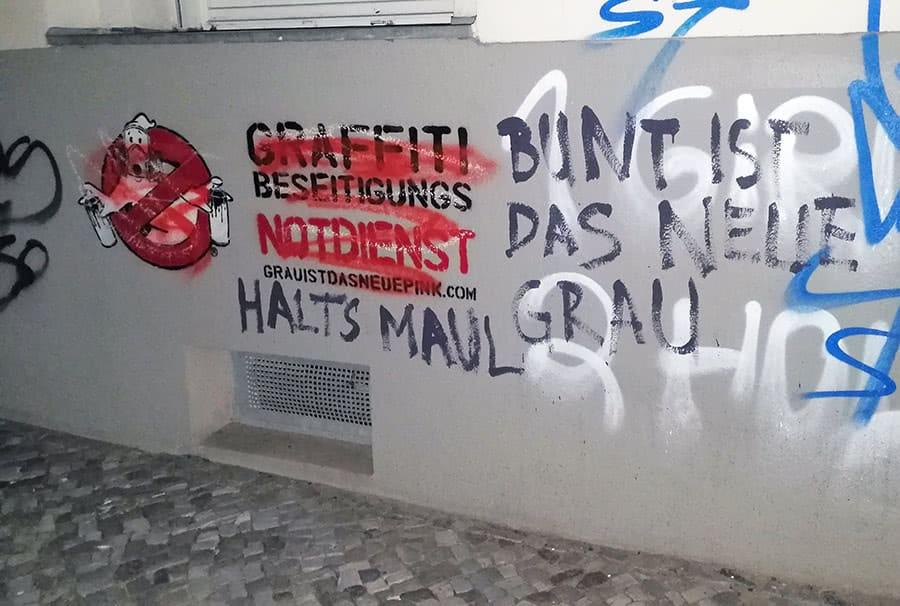 Crossed Graffiti Ghost Buster- stencil art Ostap