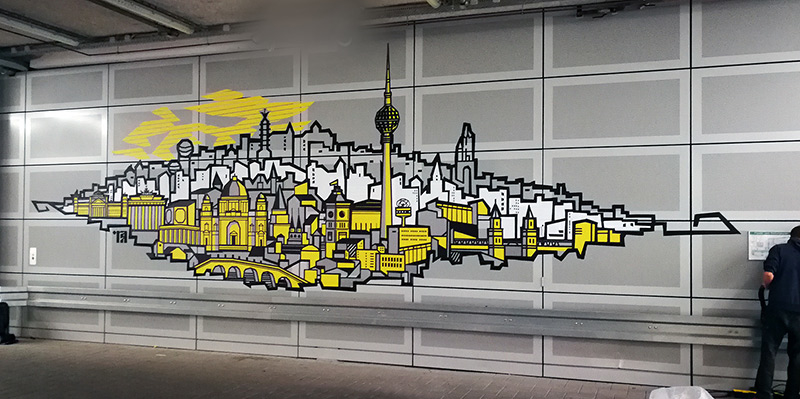 Tape Art Auftrag im Bundesbank- by Selfmadecrew