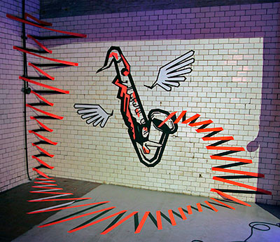 3d duct tape wall art